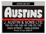 J Austins and Sons Motorcycle Dealer Decals Transfers DDQ109